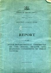 Union of South Africa, Department of Native Affairs, Report