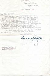 Two Typed Letters Signed ('Naomi Jacob.')