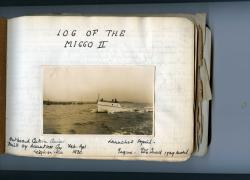 Manuscript Logs of Norman H. Jones's yachts 'Miggo II
