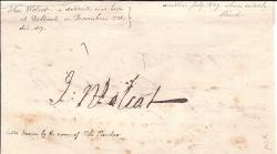 Signature of the satirist John Wolcot