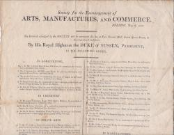Society for the Encouragement of Arts, Manufactures, and Commerce