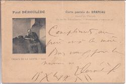 Autograph Card Signed ('Déroulède P.') by the French anti-Dreyfusard author