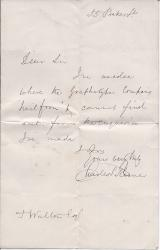 Autograph Note Signed from the Punch illustrator Charles Keene