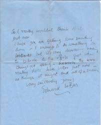 Two Autograph Letters Signed from Edward Le Bas