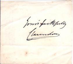 Autograph Signature of George William Frederick Villiers