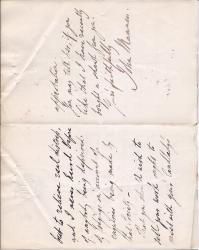 Autograph Letter Signed John Manners