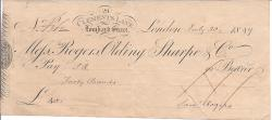 Autograph Signature of Samuel Rogers ['Saml Rogers'], 'the Banker Poet'