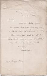 Two Autograph Letters Signed from Rev. Louis Henry Mordacque