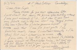 Autograph Letter Signed from English painter Henry Lamb