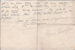 Autograph Letter Signed from Rosa Baughan, graphologist