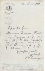 "Autograph Note Signed ""S. Passarge"" (German geographer)"